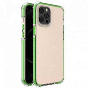Гръб Spring Armor с цветна рамка - iPhone 12 Pro Max зелен