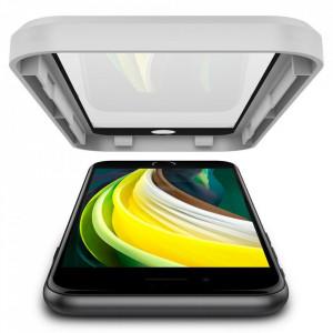 Закален стъклен протектор Spigen Align Master FC с рамка за поставяне - iPhone 7 / 8 / SE 2020 черен
