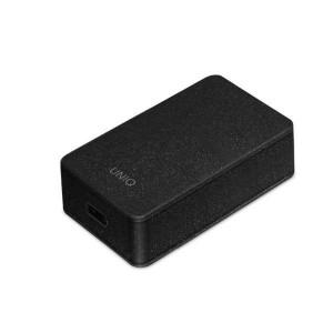 Зарядно за стена UNIQ Versa Slim Type-C Power Delivery 18W + кабел Type-C / Type-C - черен-графит (LITHOS Collective)