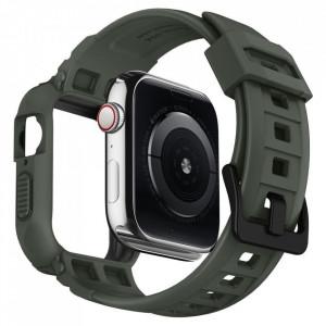 Каишка Spigen Rugged Armor - Apple Watch 4 44mm Военно зелено