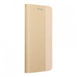 Калъф тип книга Sensitive - Huawei P30 Lite златист