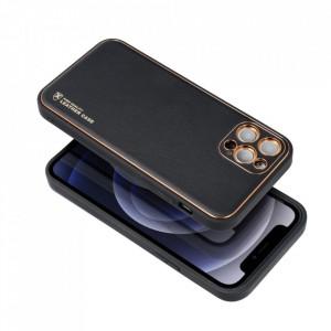 Кожен гръб Forcell LEATHER - Samsung Galaxy A22 5G черен