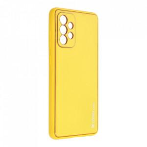 Кожен гръб Forcell LEATHER - Samsung Galaxy A72 ( 4G ) жълт