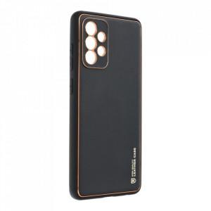Кожен гръб Forcell LEATHER - Samsung Galaxy A72 / A72 5G черен