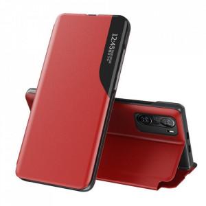Кожен калъф тип книга ECO - Xiaomi Mi 11i / Poco F3 / Poco F3 Pro / Redmi K40 / Redmi K40 Pro червен