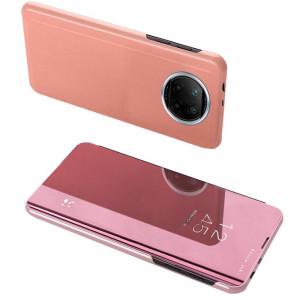 Огледален калъф тип книга Clear View - Xiaomi Redmi Note 9T 5G розов
