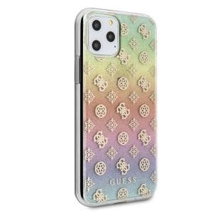 Оригинален гръб GUESS 4G Peony Liquid Glitter - iPhone 11 Pro многоцветен