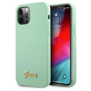 Оригинален гръб GUESS GUHCP12MLSLMGGN - iPhone 12/12 Pro зелен