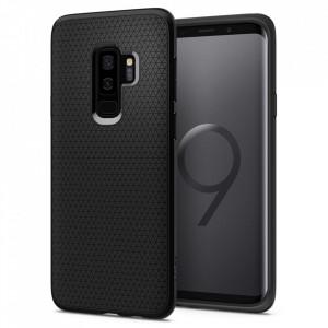 Оригинален гръб Spigen Liquid Air - Samsung Galaxy S9 Plus черен мат
