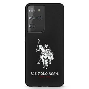 Оригинален гръб US Polo Silicone Logo USHCS21LSLHRBK - Samsung Galaxy S21 Ultra черен