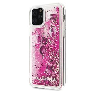 Оригинален твърд гръб KARL LAGERFELD Glitter KLHCN58ROPI - iPhone 11 Pro розов-златен