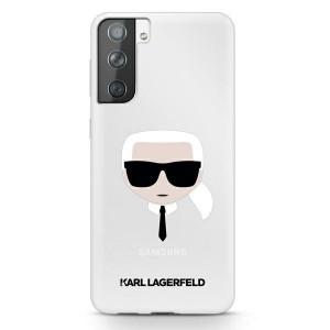 Оригинален твърд гръб KARL LAGERFELD Karl`s Head KLHCS21MKTR – Samsung Galaxy S21 Plus hardcase прозрачен