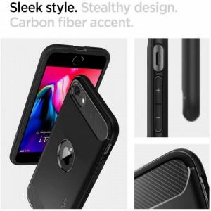 Релефен гръб Spigen Rugged Armor - iPhone 7 / 8 / SE 2020 черен