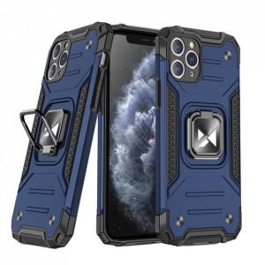 Релефен гръб Wozinsky Ring Armor със стойка - iPhone 11 Pro син