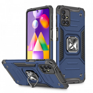 Релефен гръб Wozinsky Ring Armor със стойка - Samsung Galaxy M31s син