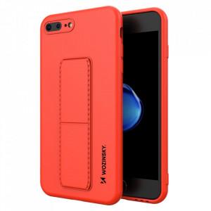 Силиконов гръб със стойка Wozinsky Kickstand - iPhone 7 Plus / iPhone 8 Plus червен