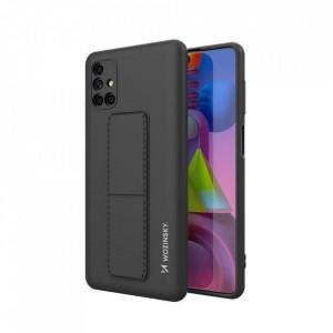 Силиконов гръб със стойка Wozinsky Kickstand - Samsung Galaxy M51 черен