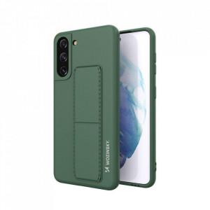Силиконов гръб със стойка Wozinsky Kickstand - Samsung Galaxy S21 Plus 5G тъмнозелен