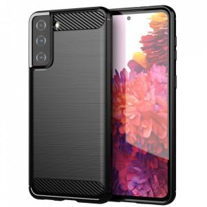 Силиконов гръб Carbon - Samsung Galaxy S21 Plus черен