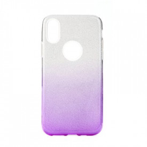 Силиконов гръб FORCELL Shining - Huawei P30 Lite прозрачен-лилав