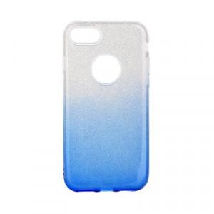 Силиконов гръб FORCELL Shining - iPhone 7 / 8 прозрачен-син