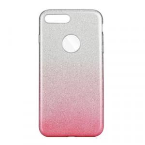 Силиконов гръб FORCELL Shining - iPhone 7 Plus / 8 Plus прозрачен-розов
