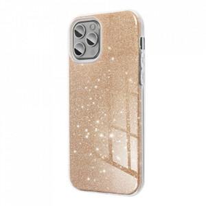 Силиконов гръб FORCELL Shining - Samsung Galaxy A12 златен