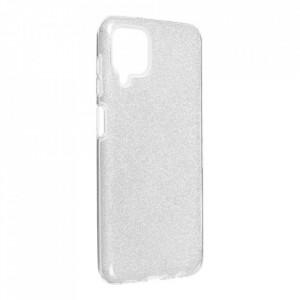Силиконов гръб FORCELL Shining - Samsung Galaxy A12 сребрист