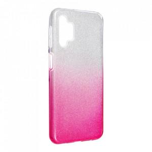Силиконов гръб FORCELL Shining - Samsung Galaxy A32 сребрист/розов