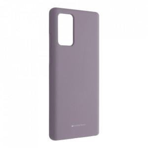 Силиконов гръб Mercury Silicone - Samsung Galaxy Note 20 лилав