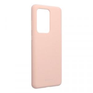 Силиконов гръб Mercury Silicone - Samsung Galaxy S20 Ultra розов пясък