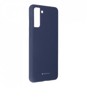 Силиконов гръб Mercury Silicone - Samsung Galaxy S21 Plus тъмносин