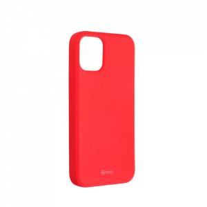 Силиконов гръб ROAR Colorful Jelly - iPhone 12 Mini прасковено розов