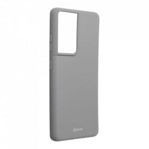 Силиконов гръб ROAR Colorful Jelly - Samsung Galaxy S21 Ultra сив