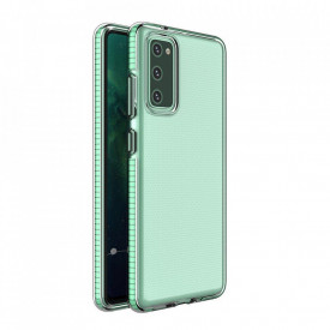 Силиконов гръб Spring с цветна рамка - Samsung A72 4G/5G мента