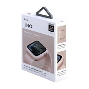 Силиконов калъф UNIQ Lino - Apple Watch 4 / 5 40mm - пудра