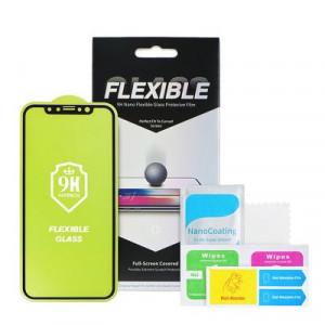 5D Full Glue гъвкав нано протектор - iPhone 6 / 6s черен