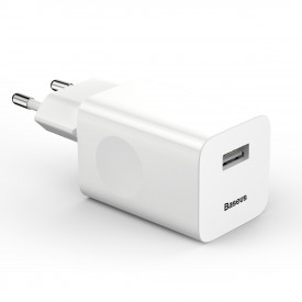 BASEUS Charging Quick Charger Travel Charger Adapter зарядно за стена USB Quick Charge 3.0 QC 3.0 бял (CCALL-BX02)