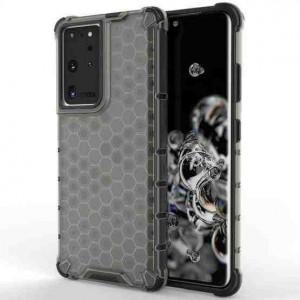 Гръб Honeycomb Armor със силиконов бъмпер - Samsung Galaxy S21 Ultra черен