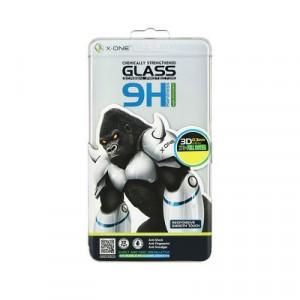ЗD закален стъклен протектор 9H с пълно покритие LCD X-ONE - iPhone 7 Plus / 8 Plus бял