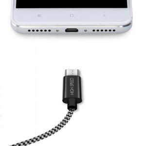 Кабел DUX DUCIS K-ONE Series USB / micro USB 2.1A 2m черен