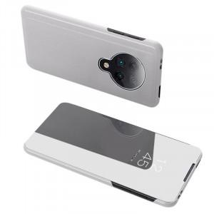 Калъф тип книга Clear View (активен капак) - Xiaomi Redmi K30 Pro / Poco F2 Pro сребърен