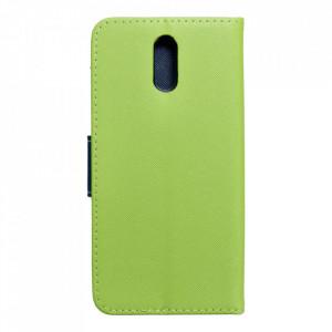Калъф тип книга Fancy - Nokia 2.3 лайм / син