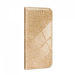 Калъф тип книга Shining - Samsung Galaxy A02s златист