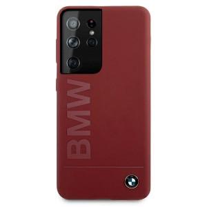Оригинален гръб BMW Silicone Signature Logo BMHCS21LSLBLRE – Samsung Galaxy S21 Ultra червен