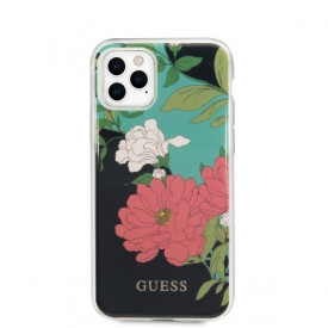 Оригинален гръб GUESS Flower Collection GUHCN58IMLFL01 - iPhone 11 Pro черен