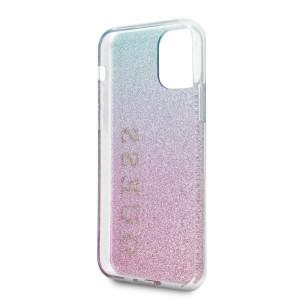 Оригинален гръб GUESS Glitter Gradient - iPhone 11 Pro розов / син