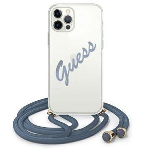 Оригинален гръб GUESS GUHCP12MCRTVSBL - iPhone 12/12 Pro син