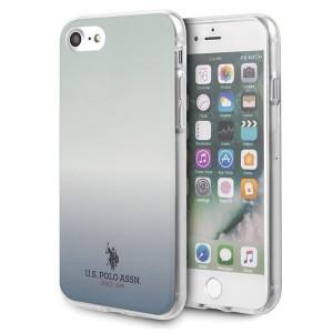 Оригинален гръб US Polo Gradient Pattern Collection USHCI8TRDGLB - iPhone 7/8/SE 2020 син