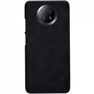 Оригинален кожен гръб Nillkin Qin - Xiaomi Redmi Note 9T 5G черен
